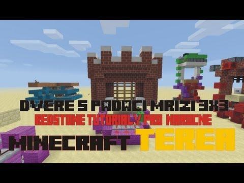 Minecraft Dveře s padací mříží 3x3 Nová verze TUTORIAL