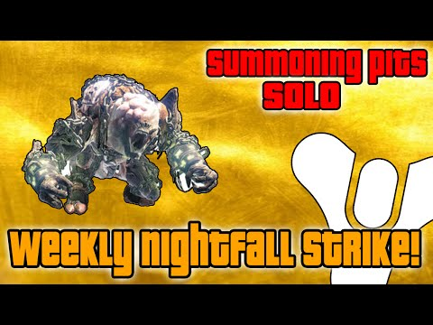 Destiny How To Solo The Summoning Pits Weekly Nightfall Strike Boss Phogoth Cheese Spot