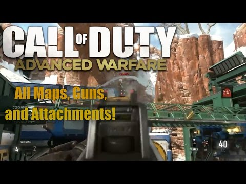 Call of Duty Advanced Warfare Multiplayer Gameplay - All Maps, Guns, and Attachments (AW MP)