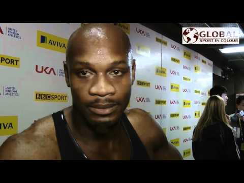 Asafa Powell talks to Global Sport In Colour @ indoor Grand Prix 2012