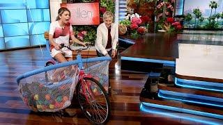 Sarah Hyland on Riding a Bike