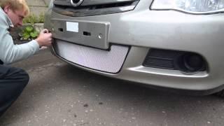 Видео: Установка защиты радиатора Nissan Almera 2013