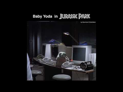 Baby Yoda in Jurassic Park