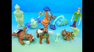 2000 SCOOBY DOO and THE ALIEN INVADERS SET OF 8 BURGER KING KIDS MEAL TOYS VIDEO REVIEW