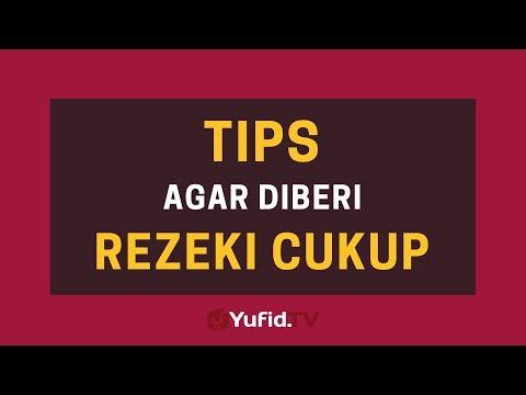 Tips Agar Diberi Rezeki yang Cukup – Poster Dakwah Yufid TV