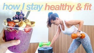 HOW I STAY HEALTHY + FIT   day in my life