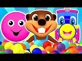 """Baby Pop"" Learn Colors, Shapes, ABCs Alphabet & Nursery Rhymes | Teach Children with Busy Beavers"