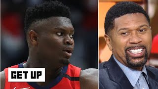 Zion shouldn't be salty about getting benched in his NBA debut - Jalen Rose | Get Up
