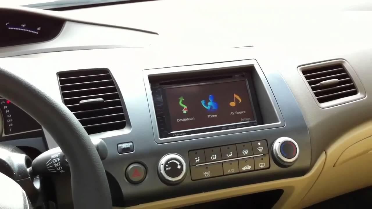 2008 Honda Civic Pioneer Avic X920bt Navigation Al Amp Eds