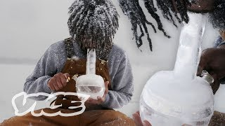 How to Make a Bong Out of Ice in a Winter Blizzard | Smokeables