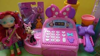 Đồ Chơi Máy Tính Tiền Minnie Mouse Búp Bê Em Bé, Pony Blind Bag, Play-Doh Với Đồ Chơi Bất Ngờ
