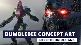 Bumblebee Movie Concept Art - Decepticons + Alternate Blitzwing Design