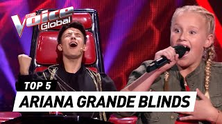 BEST ARIANA GRANDE Blind Auditions in The Voice (Kids) [PART 2]