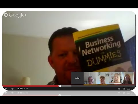 Elevator Pitches on Live  Google Hangouts with Elene Marsden