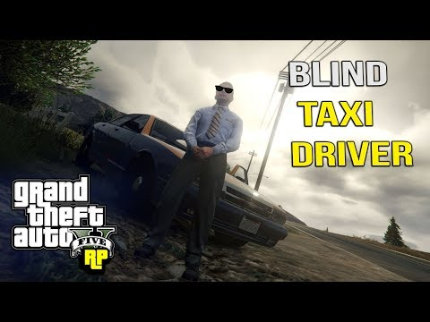 BLIND TAXI DRIVER HIT BY CAR! (GTA RP)