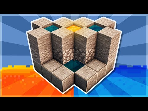Minecraft Tutorial #24 - How to Build a 2 Person Cobblestone Generator - 1 Lava Bucket (HD)