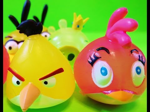 Blind Bags Opening Angry Birds Mash'ems  - itsplaytime612