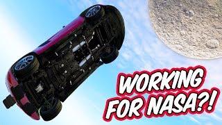 THIS ROCKET CAR SHOT ME TO THE MOON! // GTA 5 Online Stunt Racing