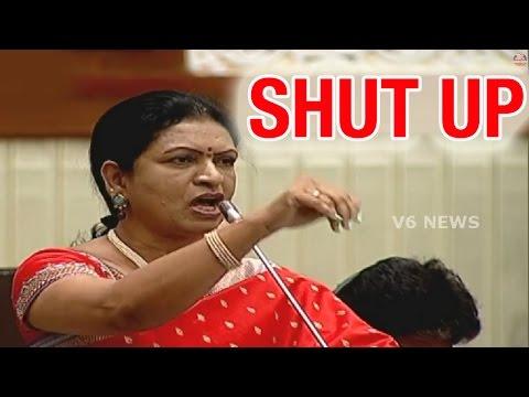 MLA DK Aruna asks TRS MLA Enugu Ravinder Reddy to SHUT UP in Assembly - Teenmaar News (10-03-2015)