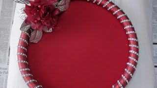 How to make Decorative Round Tray