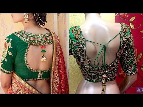 Latest Designer Silk Saree embroidery Blouse Designs - She Fashion