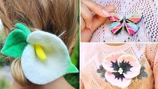 Украшения - цветы и бабочка своими руками