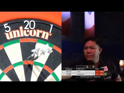 9 DARTER FROM NOEL MALICDEM ON PDC ASIA TOUR 2018 - AWESOME MOMENT - NINE DARTER