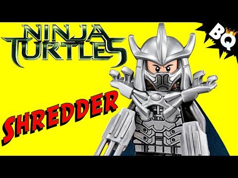 LEGO Ninja Turtles Shredder Minifigure Comparison