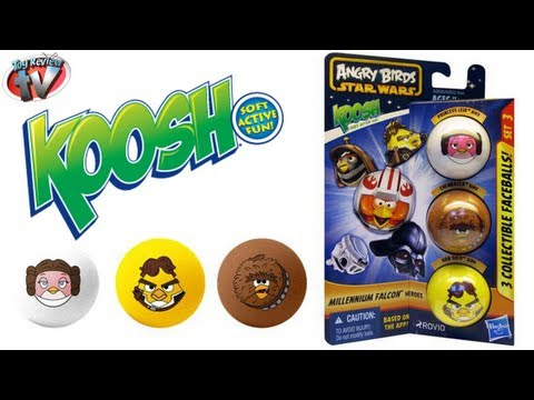 Angry Birds Star Wars Koosh Millennium Falcon Heroes 3 Pack Toy Review. Hasbro