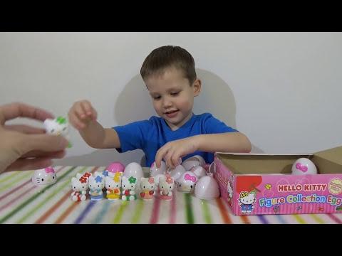 Хелло Китти яйца с сюрпризом открываем игрушки HELLO KITTY surprise eggs toys