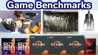 Ryzen R7 vs FX-8300 vs i7-7700K - Overwatch - Fallout 4 - Hitman - Benchmark