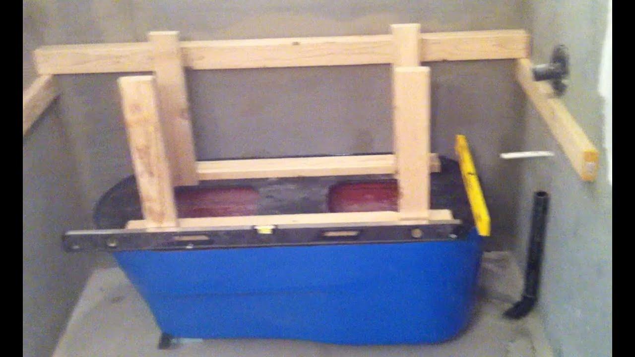 Making a concrete bath tub part 1 setup youtube for Build your bathroom