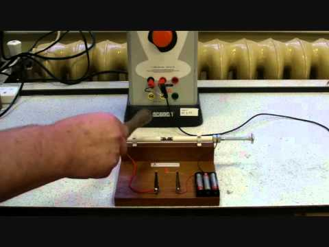 Marconi's Radio Transmission demonstration (coherer and spark transmitter)