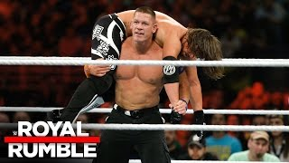 John Cena vs AJ Styles WWE Title Match Royal Rumble 2017