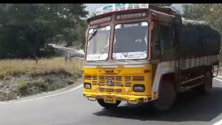 TATA TRUCK | PRIVATE BUS | TNSTC BUS | TURNING IN DHIMPAM  GHAT SECTION