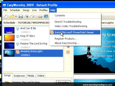 EasyWorship 2009 Training Lesson 4 - Importing & Editing PowerPoint
