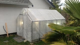 Bubble wrapping and heating the tropical orchid greenhouse for winter