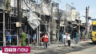 Hiện trường hoang tàn sau vụ cháy xe bồn