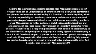 General Housekeeping Services in Albuquerque New Mexico   ABQ Household Services