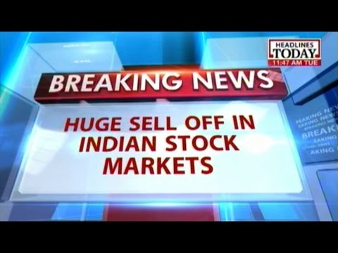 Indian stock market plunges after dip in crude oil prices