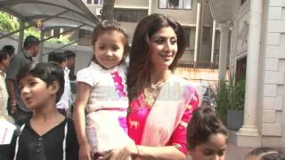 Shilpa Shetty - The Contestants Of Super Dancer - Dance Ka Kal - Ganpati Visarjan 2016