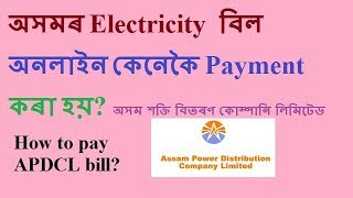 how to pay Assam electricity bill online in Assamese.(APDCL bill pay)