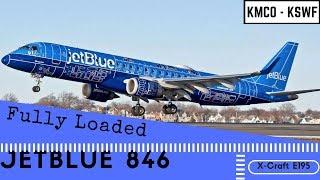 X-plane 11 - KMCO to KSWF - jetBlue 846 - X-Craft E195 v2.0