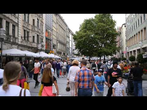 D: Munich. City Center with Pedestrian Zone. August 2015