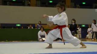 2013 新潟県スポ少大会 低学年女子形決勝 Mahiro final ( Junior Sports Club Asson Championships)