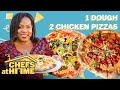 Jerk & Tandoori Chicken Pizzas With 1 Dough | Chefs At Home | Food & Wine