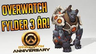 OVERWATCH FYLDER 3 ÅR! | Dansk | Overwatch: Anniversary Event 2019