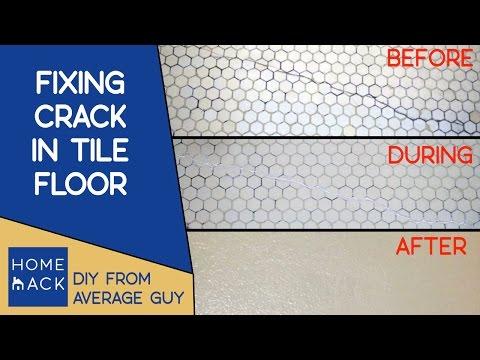 Fixing crack in bathroom tile floor