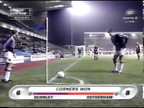 Burnley v Rotherham United 25/11/1997 trevor berry wonder goal