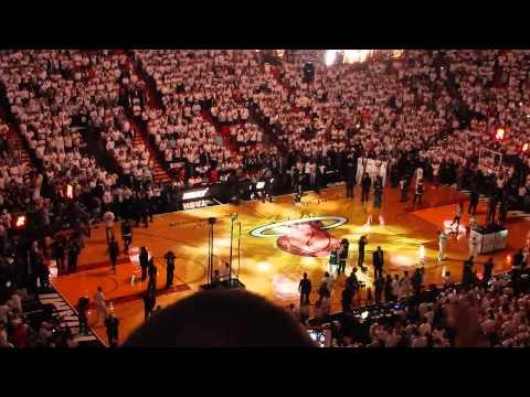 Miami Heat NBA finals 2014, game 3 - player intro